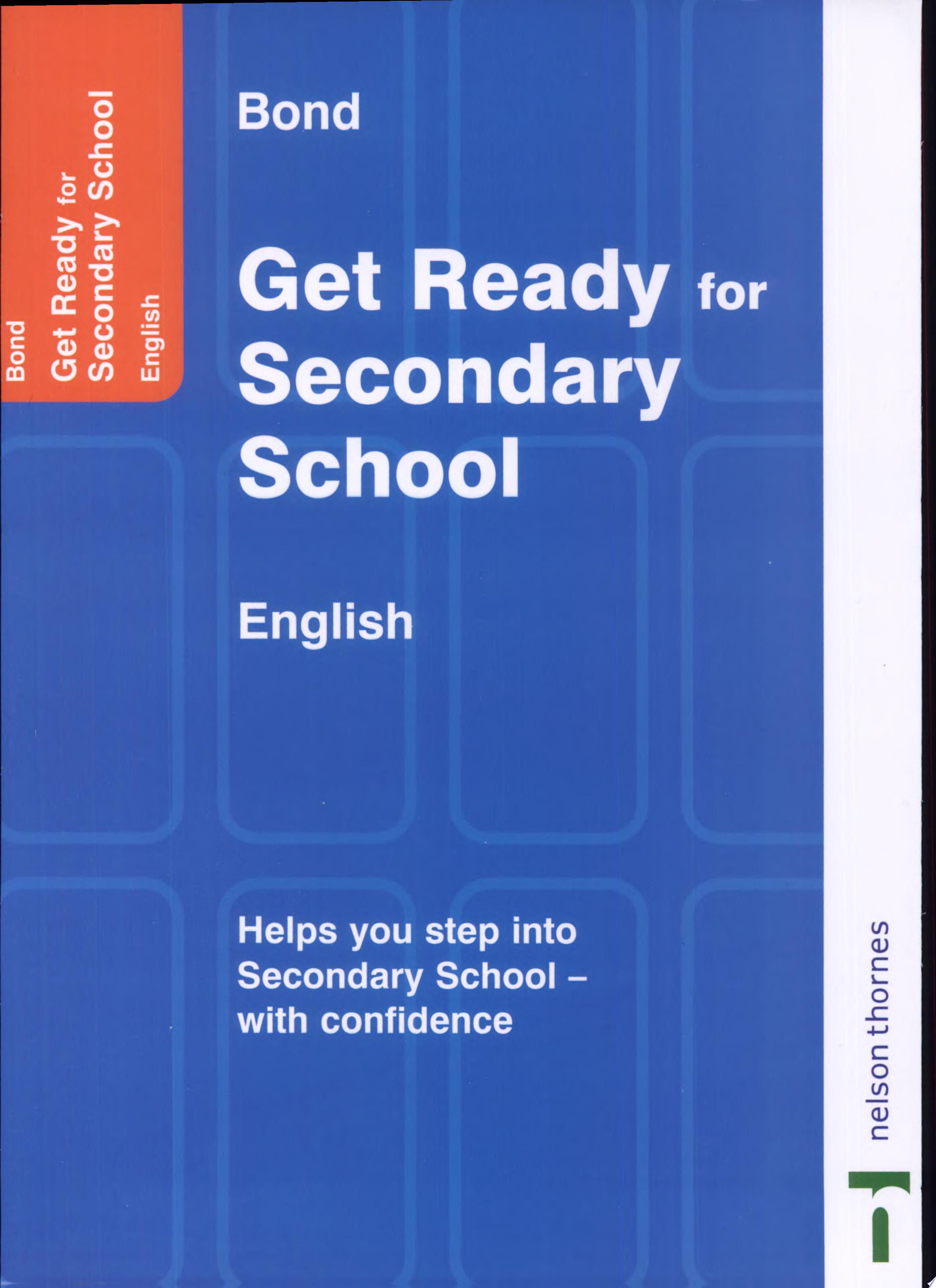 Bond Get Ready for Secondary School