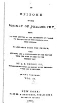 An Epitome of the History of Philosophy