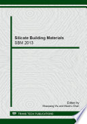 Silicate Building Materials
