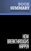 Summary  How Breakthroughs Happen   Andrew Hargadon