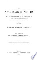 The Anglican Ministry