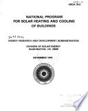 National Program For Solar Heating And Cooling Of Buildings