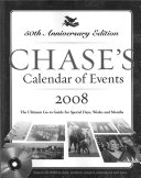 Chase s Calendar of Events 2008 w CD Rom