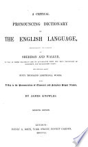 A Critical Pronouncing Dictionary Of The English Language Book PDF