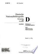 Deutsche Nationalbibliografie
