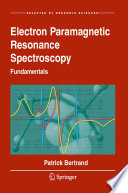 Electron Paramagnetic Resonance Spectroscopy Book PDF