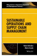 Sustainable Operations and Supply Chain Management Pdf/ePub eBook