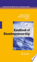 Handbook Of Bioentrepreneurship Book PDF