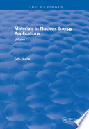 Materials in Nuclear Energy Applications Book