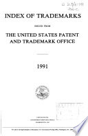 Index of Trademarks Issued from the United States Patent and Trademark Office Book
