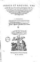 Indice et recueil universel de tous les mots principaux des Livres de la Bible, qui est le vieil & nouveau Testament