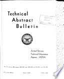 Technical Abstract Bulletin