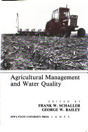 Agricultural Management and Water Quality