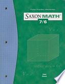 Saxon Math 7/6 Facts Practice Work Book