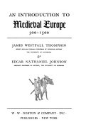 An Introduction to Medieval Europe  300 1500