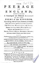 The Peerage of England     The third edition  corrected and enlarged in every family  with memoirs  not hitherto printed Book