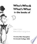 Who's who & What's what in the Books of Dr. Seuss