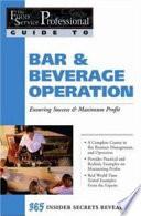 Bar & Beverage Operation