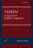 Token  A Journal of English Linguistics  Volume 2