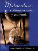 Matemáticas para administración y economía