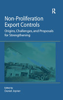 Pdf Non-Proliferation Export Controls Telecharger