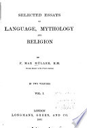 Selected Essays on Language  Mythology and Religion