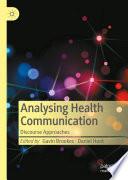 Analysing Health Communication Book