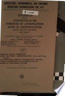 Agriculture  environmental and Consumer Protection Appropriations for 1972