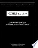 Multimodal Corridor and Capacity Analysis Manual