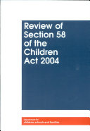 Pdf Review of section 58 of the Children's Act 2004