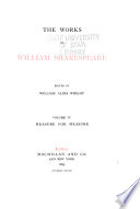 The Works Of William Shakespeare Measure For Measure