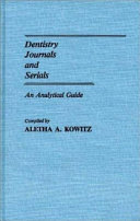 Dentistry Journals and Serials