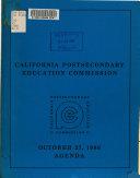 Agenda   California Postsecondary Education Commission
