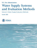 Water Supply Systems and Evaluation Methods  Volume II  Water Supply Evaluation Methods
