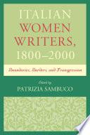 Italian Women Writers 1800 2000