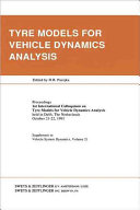 Tyre Models for Vehicle Dynamics Analysis Book