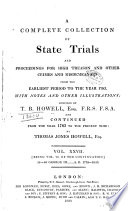 A Complete Collection Of State Trials And Proceedings For High Treason And Other Crimes And Misdemeanors Book PDF