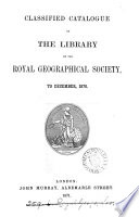 Classfied Catalogue Of The Library Of The Royal Geographical Society By G M Evans