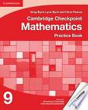 Books - Cambridge Checkpoint Mathematics Practice Book 9 | ISBN 9781107698994