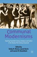 Communal Modernisms Pdf/ePub eBook