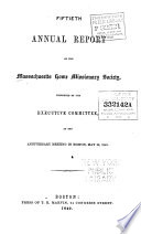 Annual Report Of The Massachusetts Home Missionary Society