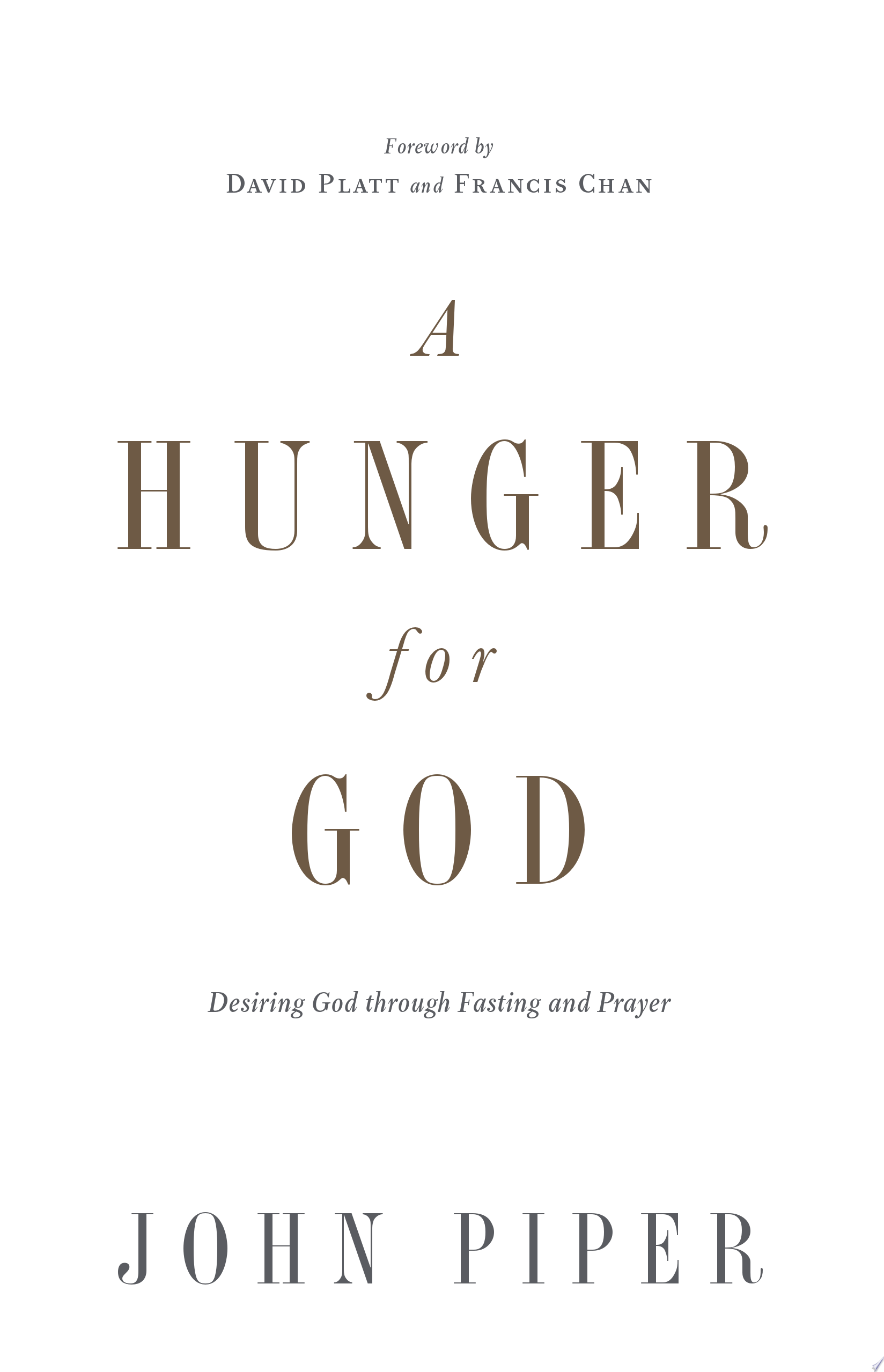 A Hunger for God  Redesign