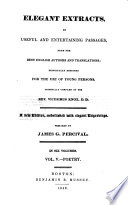 Elegant extracts ... Originally compiled by the Rev. V. K. A new edition ... prepared by J. G. Percival