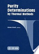 Purity Determinations by Thermal Methods Book