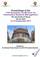 ECISM 2017 11th European Conference on Information Systems Management