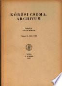 Korosi Csoma - Archivum