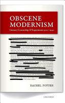 Pdf Obscene Modernism