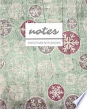 Notes Christmas Notebooks Vintage Christmas Pattern