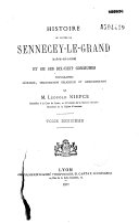 Histoire du canton de Sennecey-le-grand (Saône et Loire) et de ses dix-huit communes