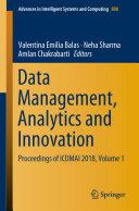 Data Management  Analytics and Innovation
